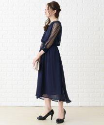 Lace Ladies/ドットチュール袖ワンピース・ドレス/502622345