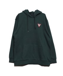 GUESS/ゲス GUESS TRIANGLE LOGO FELT PATCH HOODED PARKA (GREEN)/502623535