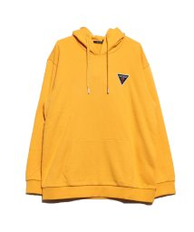 GUESS/ゲス GUESS TRIANGLE LOGO FELT PATCH HOODED PARKA (YELLOW)/502623537