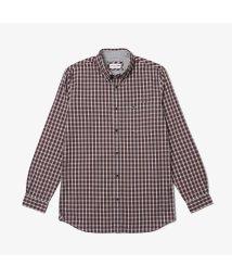 LACOSTE Mens/オックスフォードチェックボタンダウンシャツ/502514251