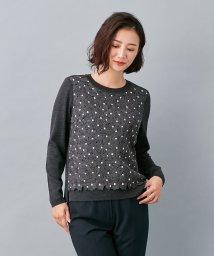 Leilian/フラワー刺繍セーター/502575382