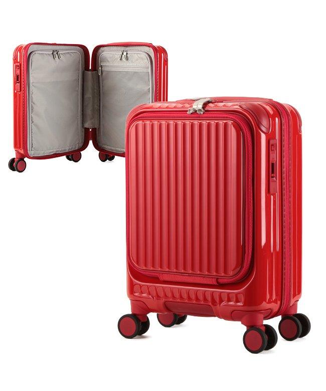 カバンのセレクション カーゴ エアレイヤー スーツケース 機内持ち込み フロントオープン SSサイズ/22L ストッパー機能 CARGO AiR LAYER cat235ly ユニセックス レッド フリー 【Bag & Luggage SELECTION】