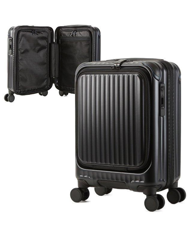カバンのセレクション カーゴ エアレイヤー スーツケース 機内持ち込み フロントオープン SSサイズ/22L ストッパー機能 CARGO AiR LAYER cat235ly ユニセックス ブラック フリー 【Bag & Luggage SELECTION