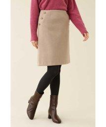 NATURAL BEAUTY BASIC/ボタンディテール台形スカート◆/502624090