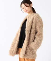 Demi-Luxe BEAMS/Demi-Luxe BEAMS / クルーネック ファーコート/502624297