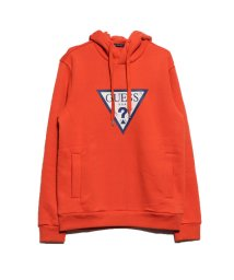 GUESS/ゲス GUESS VELVET TRIANGLE LOGO HOODED PARKA (ORANGE)/502625879