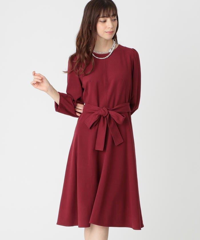 スウェードタッチジャージドレス