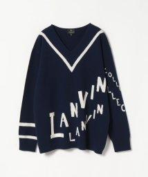 LANVIN COLLECTION/Vネックニットプルオーバー/502524634