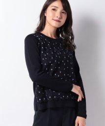 Leilian PLUS HOUSE/フラワー刺繍セ-タ-/502575552