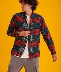 TOMMY HILFIGER MENS/タータンチェックパッチワークシャツ/502605383