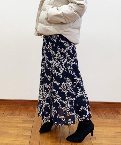 fredy emue(フレディエミュ)/花柄パネル切り替えスカート/9-0021-6-26-003