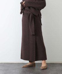 Rouge vif la cle/ヤク混ニットラップスカート/502617990