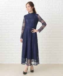 Lace Ladies/総レースロング丈長袖ワンピース・ドレス/502628428