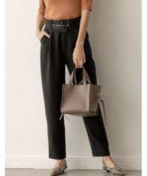 Re:EDIT/お仕事の日もお休みも、綺麗め気分ならこのパンツ バックルベルト付テーパードパンツ パンツ/パンツ/502629291