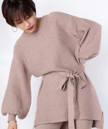 ViS/【高橋愛×ViS】ベルト付ガーター編みチュニックプルオーバー/502629403