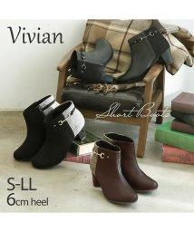 Vivian/サイドビット付きショートブーツ/502630865