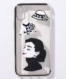 SELECT/〈HAPPY FACE/ハッピーフェイス〉iPhone 7/8/X Case Celebrity Style/透明メタリックフレーム 海外セレブ風iPhone/502362876