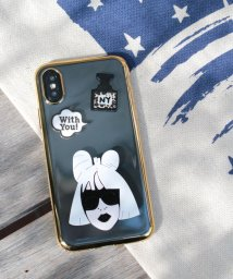 SELECT/〈HAPPY FACE/ハッピーフェイス〉iPhone 7/8/X Case Celebrity Style/透明メタリックフレーム 海外セレブ風iPhone/502362876