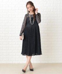 Lace Ladies/刺繍レースギャザースカート長袖ワンピース・ドレス/502628430