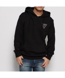 GUESS/ゲス GUESS TRIANGLE LOGO FELT PATCH HOODED PARKA (BLACK)/502632245