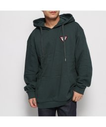 GUESS/ゲス GUESS TRIANGLE LOGO FELT PATCH HOODED PARKA (GREEN)/502632246