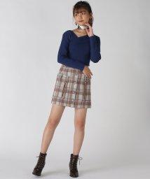 REDYAZEL/チェックZIP台形ミニスカート/502633190