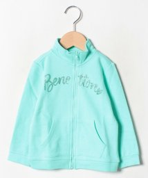 BENETTON (UNITED COLORS OF BENETTON GIRLS)/スウェットロゴジップスタンドカーディガン/501567857