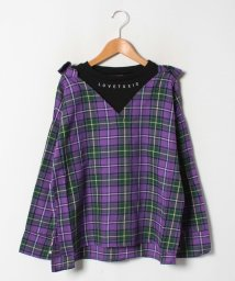 Lovetoxic/レイヤード風チェックシャツ/502611932