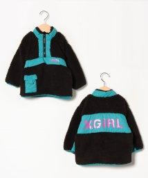 X-girl Stages/ボアハーフジッププルオーバー/502612218