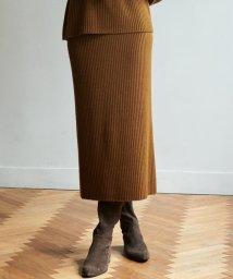 NIJYUSANKU/【マガジン掲載】カシミヤブレンドワイドリブニットスカート(検索番号K34)/502633649