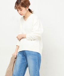 NICE CLAUP OUTLET/【natural couture】ふっくら杢調ニット/502612510