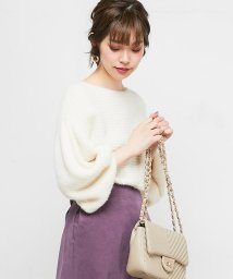 NICE CLAUP OUTLET/【natural couture】ちょびフェザー横リブニット/502612917