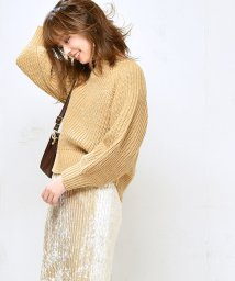 NICE CLAUP OUTLET/【natural couture】ラメリリヤーンニット/502612919