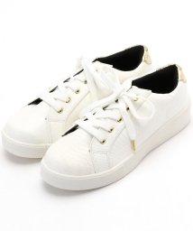 NICOLE white/フェイクレザーローカットスニーカー/502566961