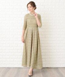Lace Ladies/リーフモチーフハイネックロングワンピース・ドレス/502628446