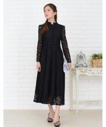 Lace Ladies/フローラル柄総レースミモレ丈ワンピース・ドレス/502628457