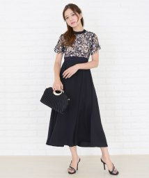 Lace Ladies/レース切替えハイウエストワンピース・ドレス/502628459