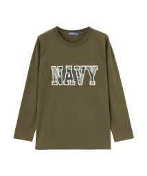 MAC HOUSE(kid's)/Navy ネイビー ボーイズ ワッペンロングスリーブTシャツ EJ195-KB103/502634862