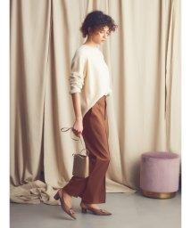 Mila Owen/後ろゴムサイドベンツワイドパンツ/502636191