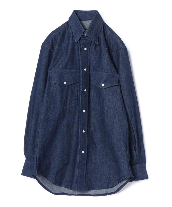 GITMAN:デニムスナップウエスタンシャツ