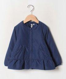 LAGOM/ノーカラー裾フリルジャケット/502618986