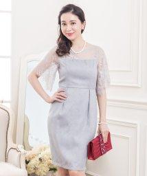 Lace Ladies/フレア袖花柄レースワンピース・ドレス/502628332
