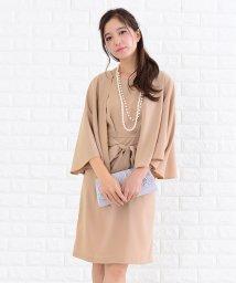 Lace Ladies/ケープ風ウエストリボン付きタイトワンピース・ドレス/502628358