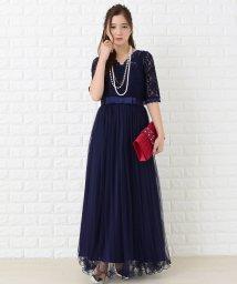 Lace Ladies/Aラインハイウエストチュールロングワンピース・ドレス/502628367