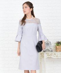 Lace Ladies/花柄レースフレア袖Aラインワンピース・ドレス/502628368