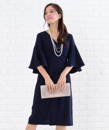 Lace Ladies/カシュクールネックフレアスリーブワンピース・ドレス/502628371