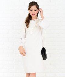 Lace Ladies/レース襟×フリル袖フェミニンワンピース・ドレス/502628375