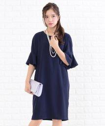 Lace Ladies/フリル袖大人シルエットワンピース・ドレス/502628380