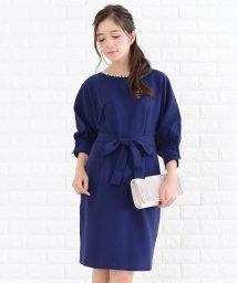 Lace Ladies/リボンベルト付きカフス袖フェミニンワンピース・ドレス/502628383