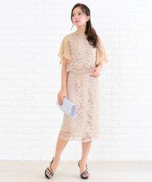 Lace Ladies/シフォンスリーブ花柄総レースワンピース・ドレス/502628385